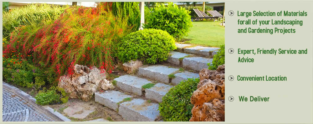 garden materials. nimbus landscape materials | rancho cordova supply bark rock gravel compost pavers garden